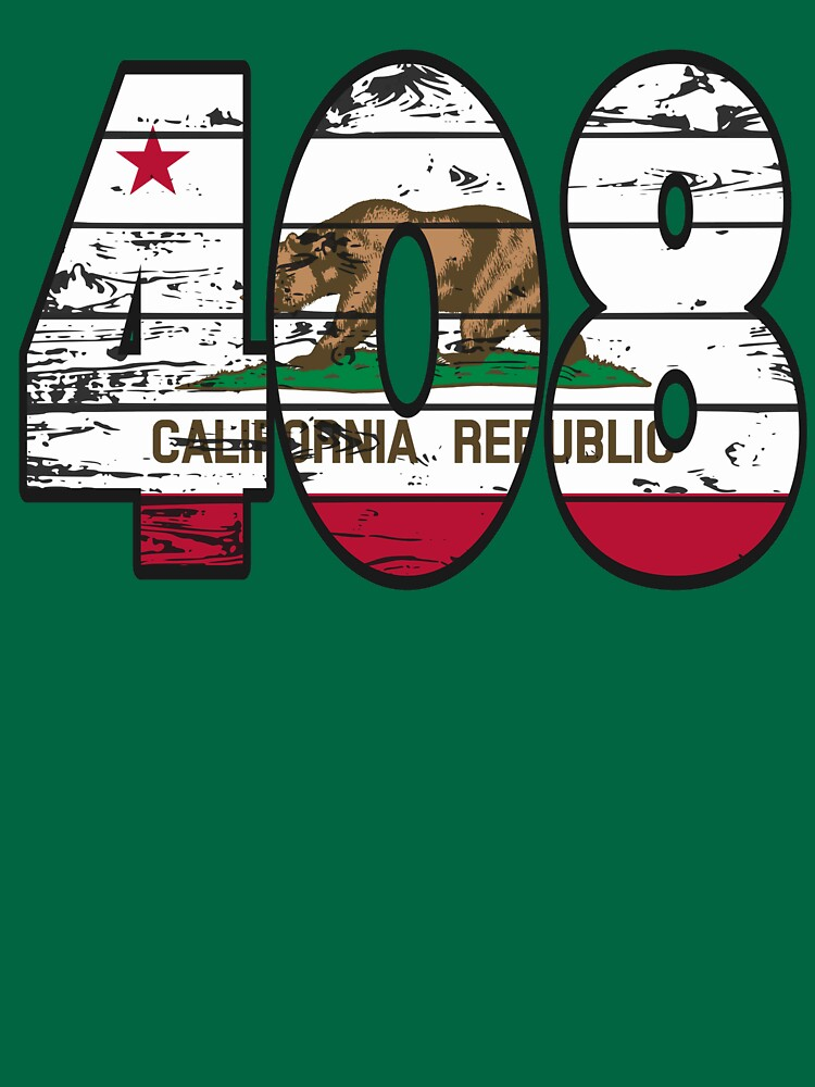 LOVE THAT  408 LIFE - YOUR FAVORITE AREA CODE WITH A HEAVY WOOD OVERLAY DISTRESS by NotYourDesign
