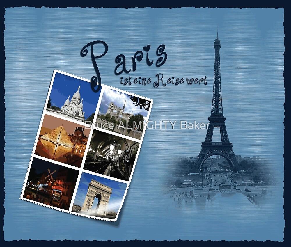 PARIS POSTCARD Pop Art by Bruce ALMIGHTY Baker