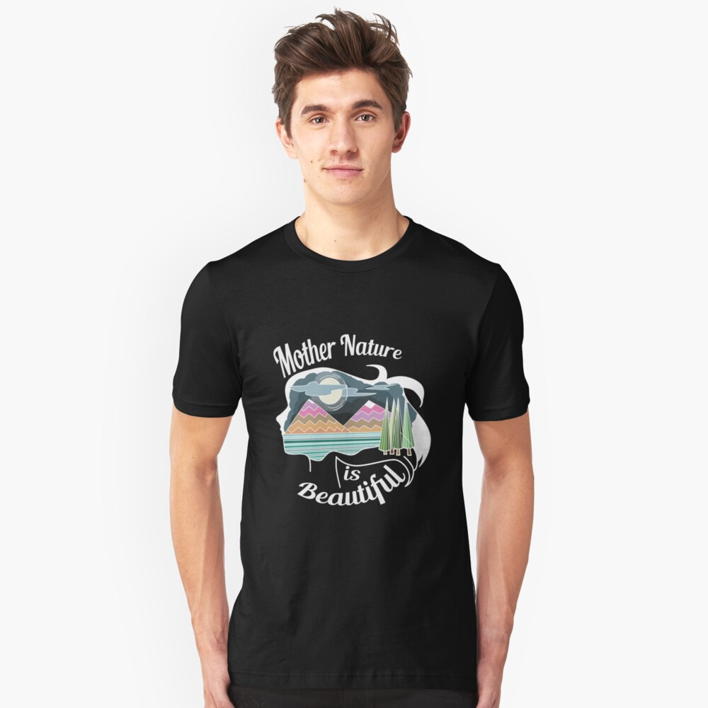 nature save the world save earth protect environment global warming 8 Unisex T-Shirt Front