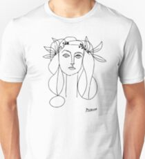 Pablo Picasso War And Peace 1952 Artwork T Shirt, Sketch Unisex T-Shirt