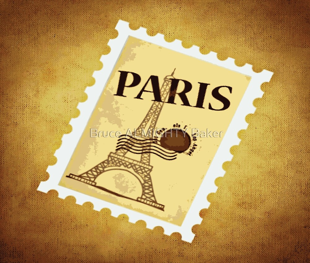 PARIS STAMP Pop Art by Bruce ALMIGHTY Baker