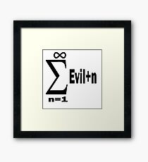The Sum of All Evil Funny Math Humor Framed Print