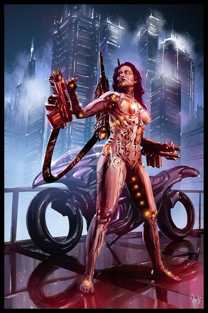 Cyberpunk Painting 092 by Ian Sokoliwski