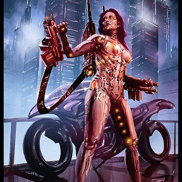 Cyberpunk Painting 092 by Sokoliwski