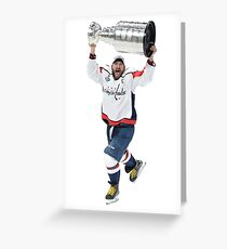 Ovi Stanley Cup Greeting Card