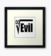 Root of All Evil Hilarious Math Humor Framed Print