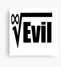 Root of All Evil Hilarious Math Humor Canvas Print