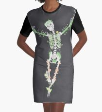 I Don't Care, I'm Dead Graphic T-Shirt Dress