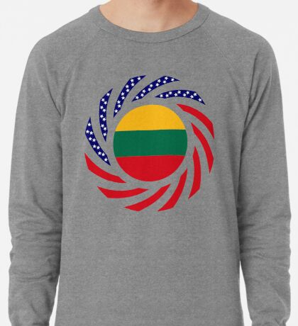 Lithuanian American Multinational Patriot Flag Series Lightweight Sweatshirt