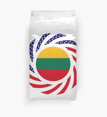 Lithuanian American Multinational Patriot Flag Series Duvet Cover
