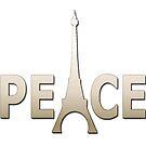 PEACE EIFFEL Pop Art by Bruce ALMIGHTY Baker