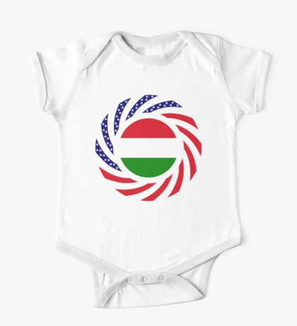 Hungarian American Multinational Patriot Flag Series Kids Clothes