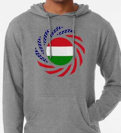 Hungarian American Multinational Patriot Flag Series Lightweight Hoodie