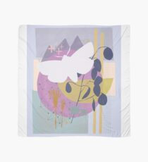 Moth flying over mountain moon Scarf