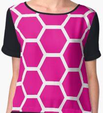 Pink Honeycomb Chiffon Top