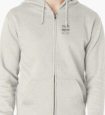 Challenge of a mountain  Zipped Hoodie