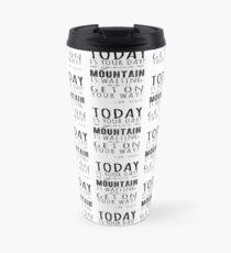Challenge of a mountain  Travel Mug