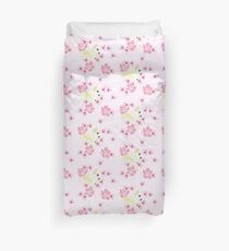 Cockatoo Pale Pink Hibiscus Bliss  Duvet Cover