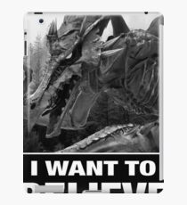 "Ridley ""I Want to Believe"" iPad Case/Skin"