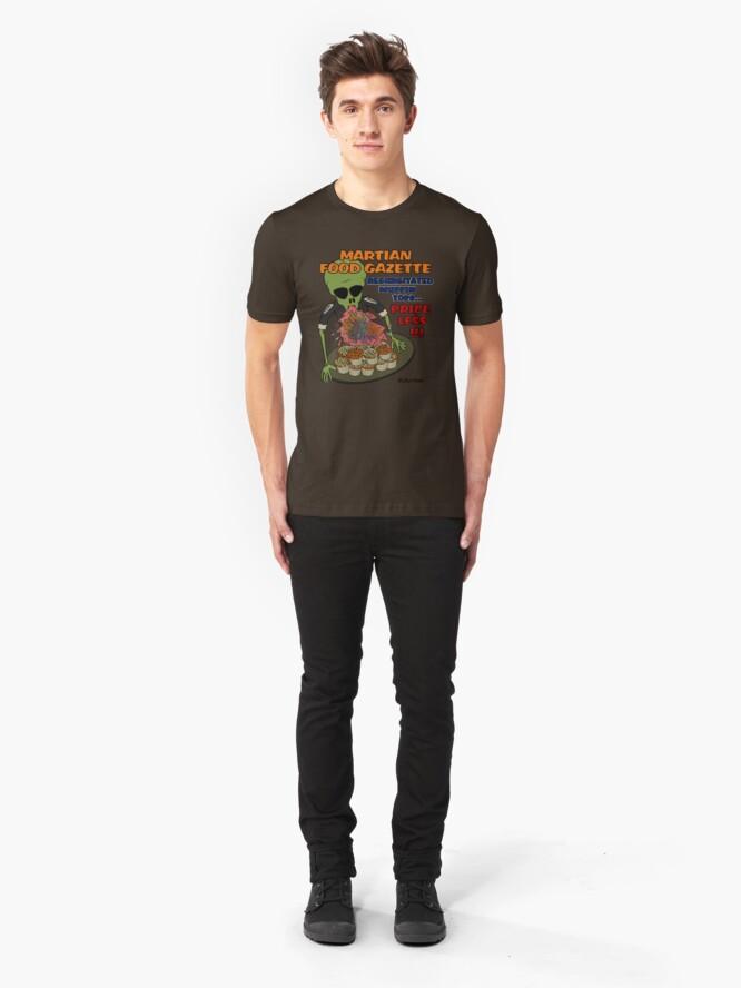 Alternate view of Martian Food Gazette Slim Fit T-Shirt