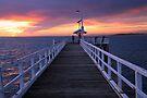 Fishermen on Point Lonsdale Pier, Victoria, Australia by Michael Boniwell