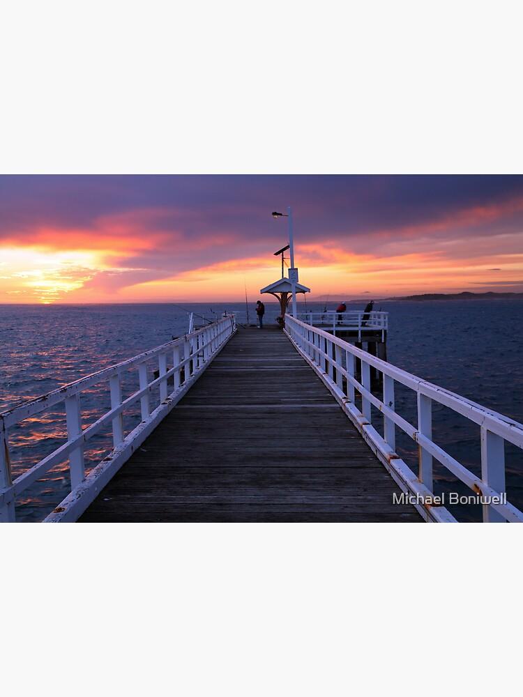 Fishermen on Point Lonsdale Pier, Victoria, Australia by Chockstone