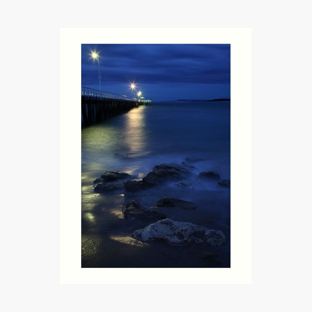 After Dark, Point Lonsdale Pier, Victoria, Australia Art Print
