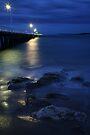 After Dark, Point Lonsdale Pier, Victoria, Australia by Michael Boniwell
