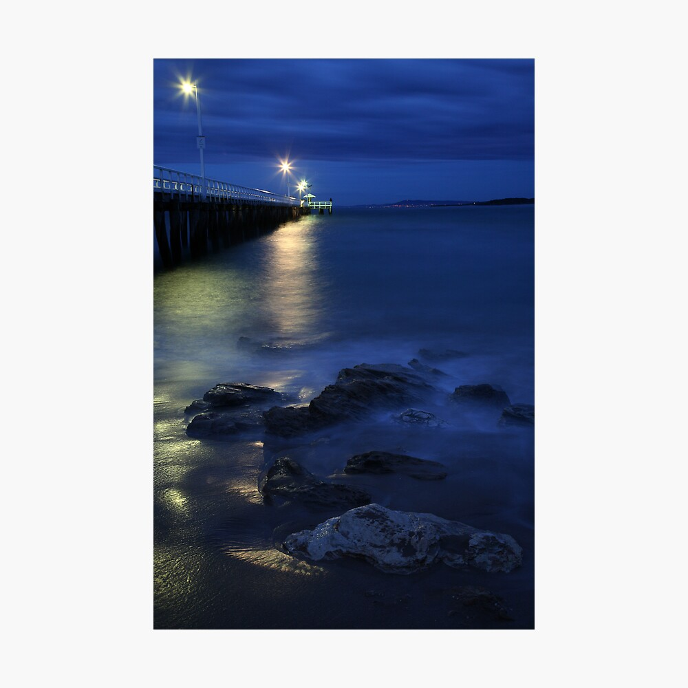 After Dark, Point Lonsdale Pier, Victoria, Australia Photographic Print
