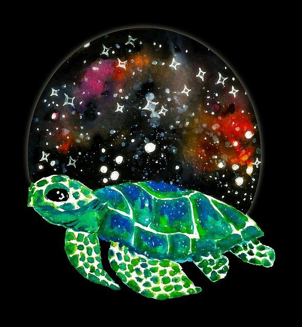 Watercolor Sea Turtle  by shashira