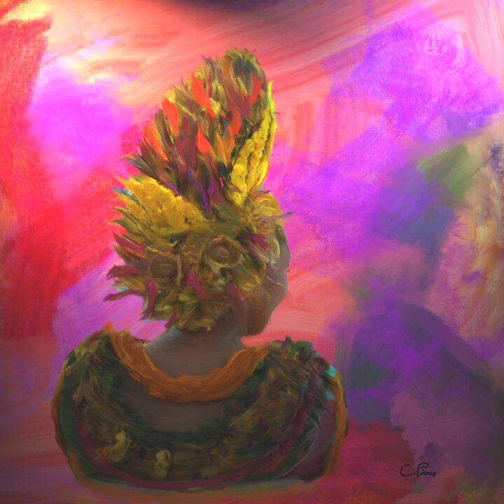 Hawaiian Floral Headdress by Christine Pierce