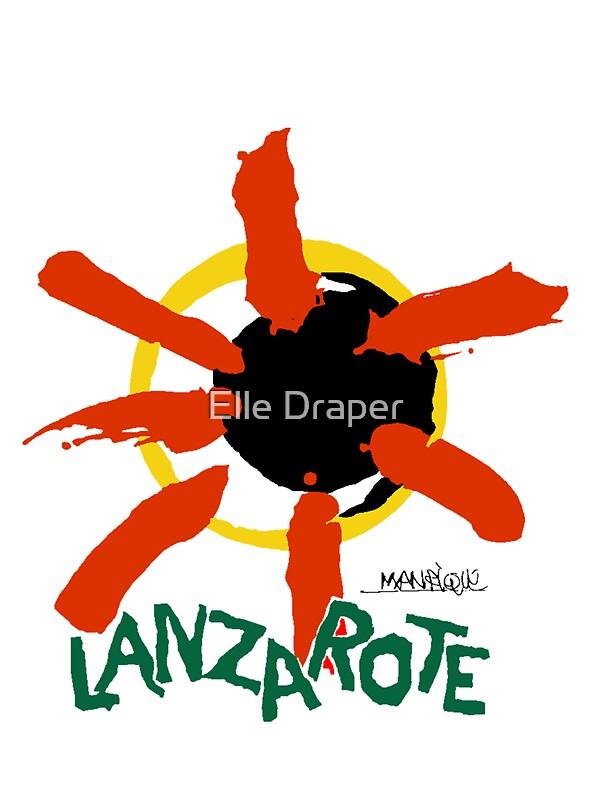 quotlanzarote large logoquot stickers by elle draper redbubble
