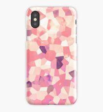 Mod Geometric Abstract Pattern Pink Retro Pastel iPhone Case/Skin