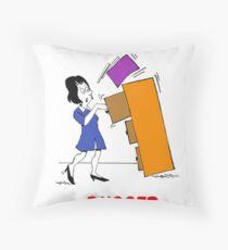 Filing Throw Pillow