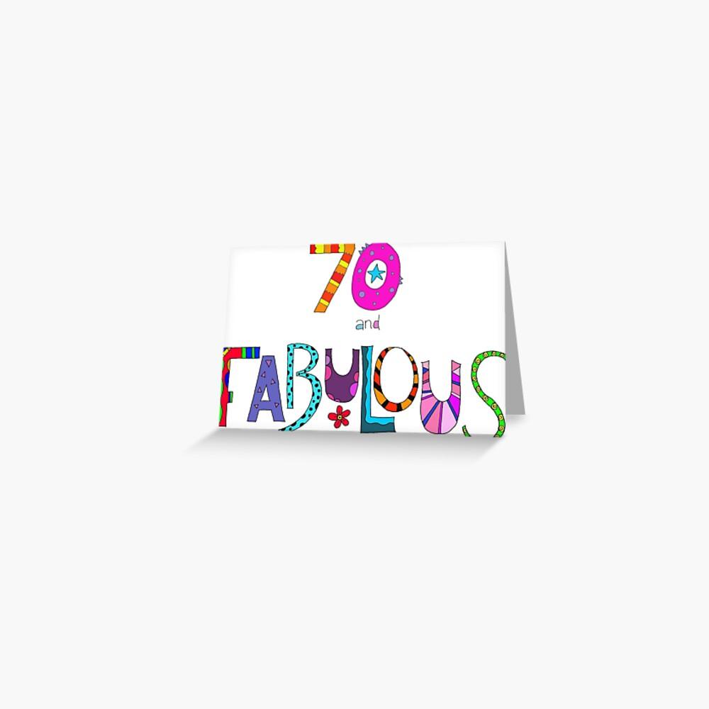 70 und fabelhafter 70. Geburtstag Bunter Entwurf Grußkarte