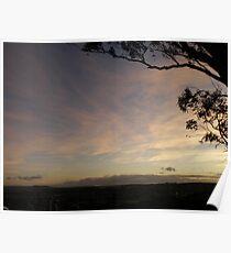 Sunset over Goulburn. Poster