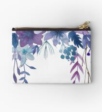 Blue Purple Flowers Studio Pouch