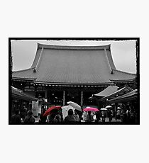 Autumn in Japan:  Colors in the Rain Photographic Print