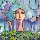 Woman - Rain clouds by Ginte