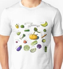 illustration of a set of hand-painted vegetables, fruits Unisex T-Shirt