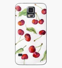 Aquarell Kirsche. Raster-Darstellung. Hülle & Klebefolie für Samsung Galaxy