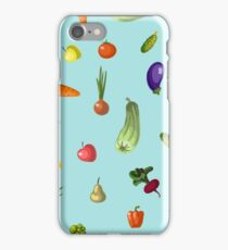 with growing vegetables - beetroot, potato, carrot, garlic and onion iPhone Case/Skin