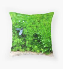 Fly left of centre! Throw Pillow