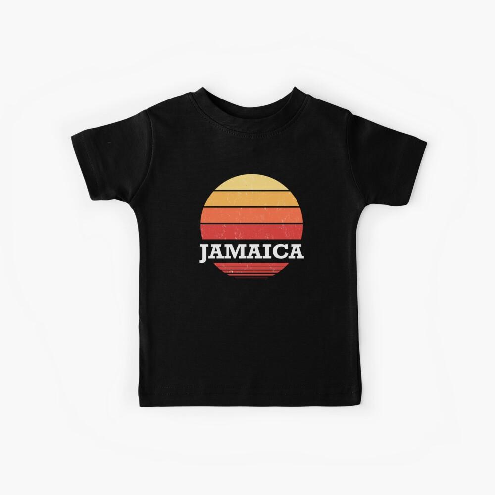 Retro Jamaika Sonnenuntergang Souvenir Kinder T-Shirt