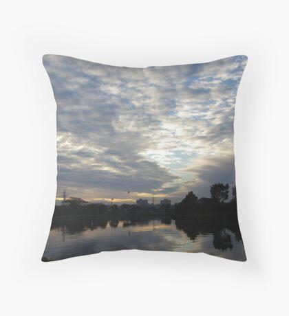 Maribyrnong River Sunrise Throw Pillow