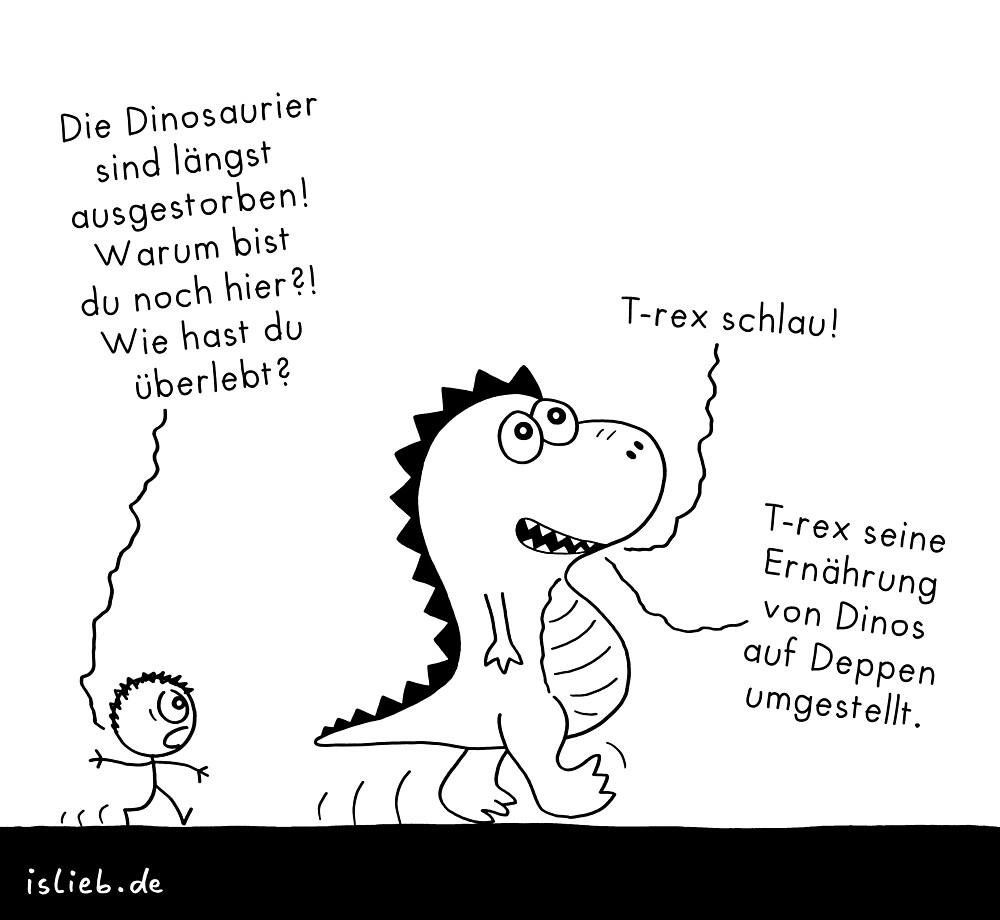 T-rex islieb-Cartoon von islieb