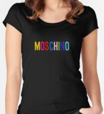 moschino black Women's Fitted Scoop T-Shirt
