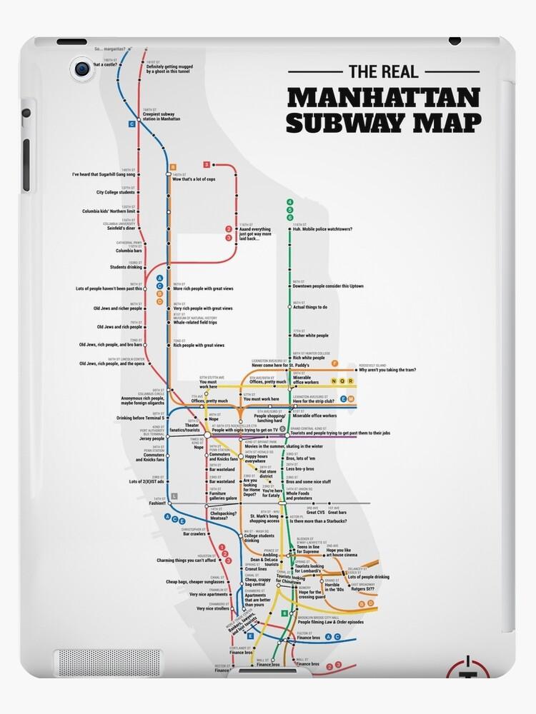 The Real Manhattan Subway Map New York City Nyc Ipad Cases