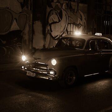 Night Taxi Cuba by henryharrison