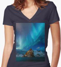 Aurores Boréales T-shirt col V femme